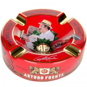 ARTURO FUENTE RED HANDS OF TIME PORCELAIN CIGAR ASHTRAY