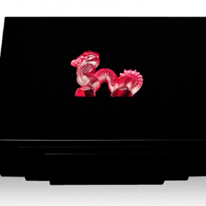 DRAGON CIGARS BOX IN BLACK LACQUERED RED 45 ct 88 pieces L.E