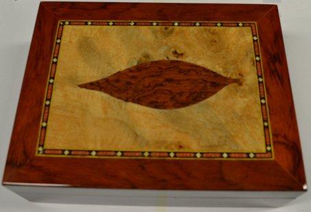 Tobacco Leaf Inlay Humidor