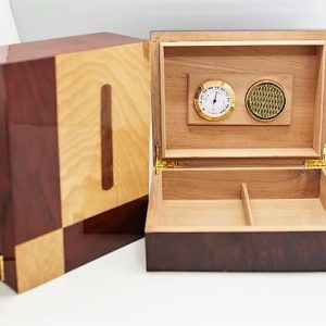 Check & Cigar Inlay Humidor 30ct.