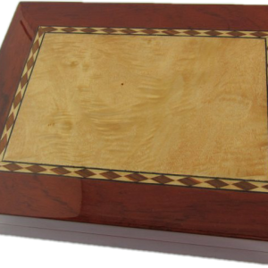 Classic Cherry with Maple inlay Humidor 30ct.