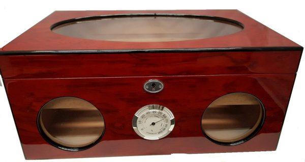 Rosewood & Glass Desktop Humidor