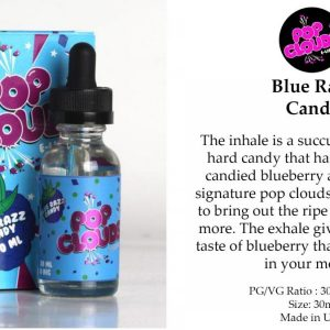 POP CLOUDS BLUE RAZZ CANDY