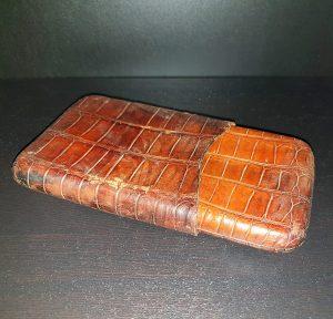 Vintage Brown Leather Cigar Case