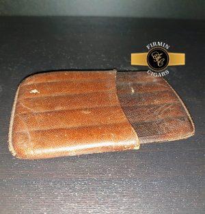 Demi Tasse Leather Cigar Case