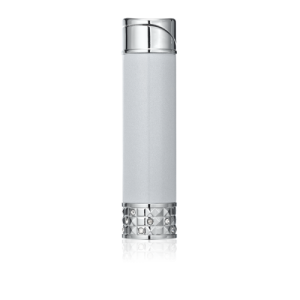 ALLURE SOFT FLAME LADIES LIGHTER Metallic Silver & Polished Chrome