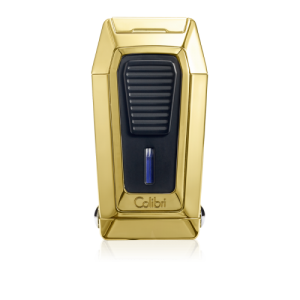 Colibri Quantum Polished Gold Triple Flame Jet Lighter