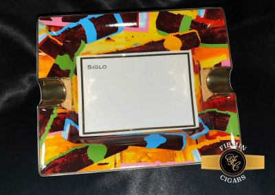 LATEST ARRIVAL!! : Siglo Graffiti Cigar Ashtray - Bone China